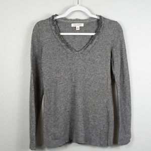 Banana Republic cashmere blend V neck sweater M